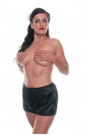 B6 Satin Black Cami Knickers