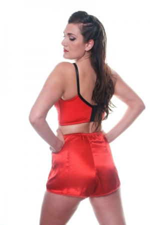 B7 Satin Red Cami Knickers*